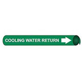 Precoiled and Strap-on Pipe Marker - Cooling Water Return