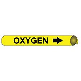 Precoiled and Strap-on Pipe Marker - Oxygen