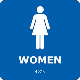 Graphic Braille Sign - Women - Blue