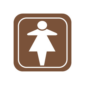 Architectural Sign - Women Symbol