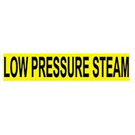 Pressure-Sensitive Pipe Marker - Low Pressure Steam, Pack Of 25