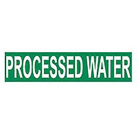 Pressure-Sensitive Pipe Marker - Processed Water, Pack Of 25