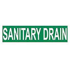 Pressure-Sensitive Pipe Marker - Sanitary Drain, Pack Of 25