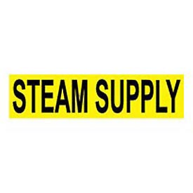 Pressure-Sensitive Pipe Marker - Steam Supply, Pack Of 25 - Pkg Qty 25