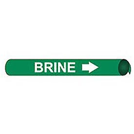 Precoiled and Strap-on Pipe Marker - Brine