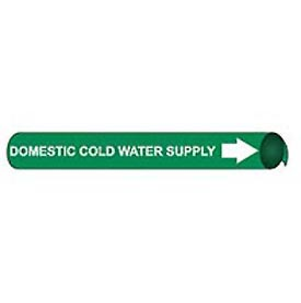 Precoiled and Strap-on Pipe Marker - Domestic Cold Water Supply