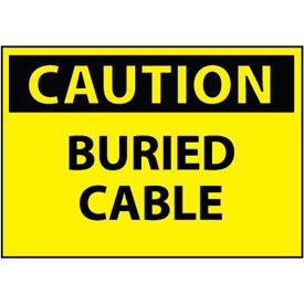 Machine Labels - Caution Buried Cable