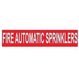Pressure-Sensitive Pipe Marker - Fire Automatic Sprinklers, Pack Of 25