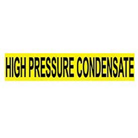 Pressure-Sensitive Pipe Marker - High Pressure Condensate, Pack Of 25