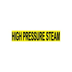Pressure-Sensitive Pipe Marker - High Pressure Steam, Pack Of 25