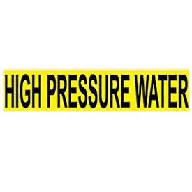 Pressure-Sensitive Pipe Marker - High Pressure Water, Pack Of 25