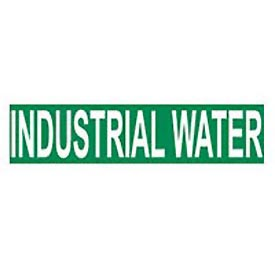 Pressure-Sensitive Pipe Marker - Industrial Water, Pack Of 25