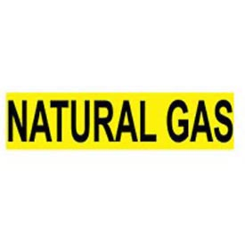 Pressure-Sensitive Pipe Marker - Natural Gas, Pack Of 25