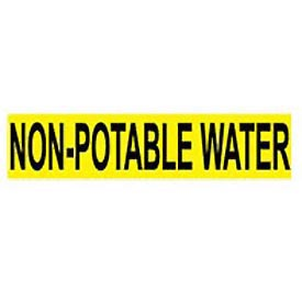 Pressure-Sensitive Pipe Marker - Non-Potable Water, Pack Of 25