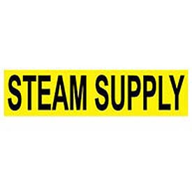 Pressure-Sensitive Pipe Marker - Steam Supply, Pack Of 25