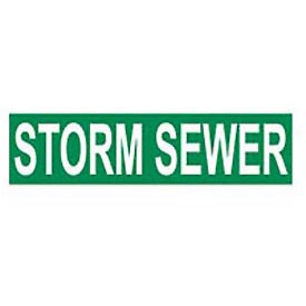Pressure-Sensitive Pipe Marker - Storm Sewer, Pack Of 25