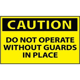 Machine Labels - Caution Do Not Operate Without Guards In Place