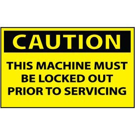 Machine Labels - Caution This Machine Must Be Locked Out Prior To Servicing