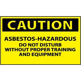 Machine Labels - Caution Asbestos Hazardous