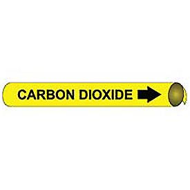 Precoiled and Strap-on Pipe Marker - Carbon Dioxide