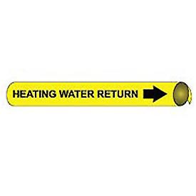 Precoiled and Strap-on Pipe Marker - Heating Water Return