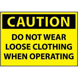 Machine Labels - Caution Do Not Wear Loose Clothing When Operating