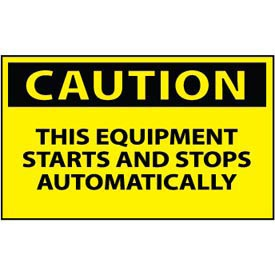 Machine Labels - Caution This Equipment Starts And Stops Automatically