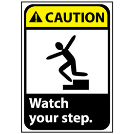 Caution Sign 10x7 Vinyl - Watch Your Step