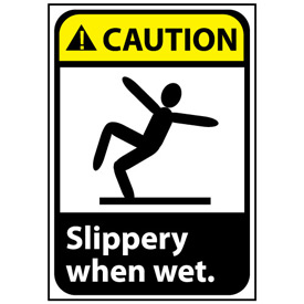 Caution Sign 14x10 Vinyl - Slippery When Wet