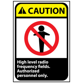 Caution Sign 14x10 Aluminum - High Level Radio Frequency