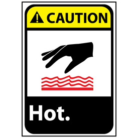 Caution Sign 14x10 Rigid Plastic - Hot