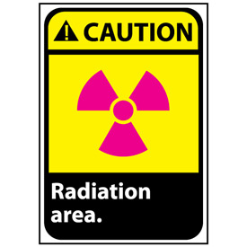 Caution Sign 14x10 Rigid Plastic - Radiation Area