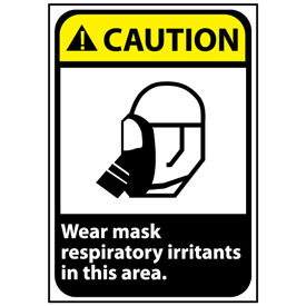Caution Sign 14x10 Aluminum - Wear Mask In This Area