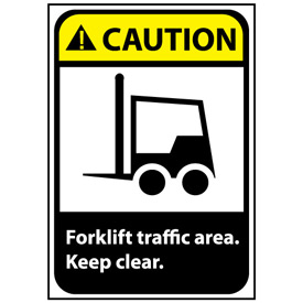 Caution Sign 14x10 Aluminum - Forklift Traffic Area