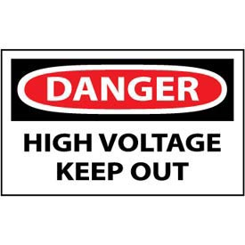 Machine Labels - Danger High Voltage Keep Out
