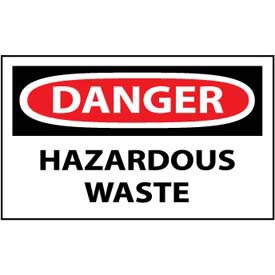 Machine Labels - Danger Hazardous Waste