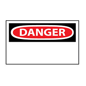 Machine Labels - Danger Blank with Header Only