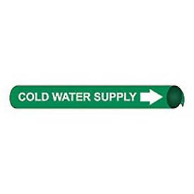 Precoiled and Strap-on Pipe Marker - Cold Water Supply