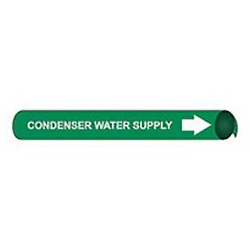 Precoiled and Strap-on Pipe Marker - Condenser Water Supply
