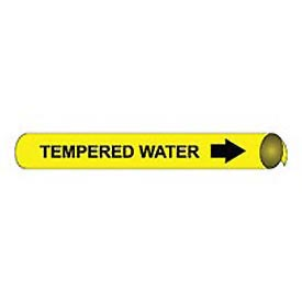 Precoiled and Strap-on Pipe Marker - Tempered Water