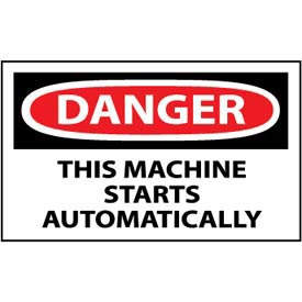 Machine Labels - Danger This Machine Starts Automatically