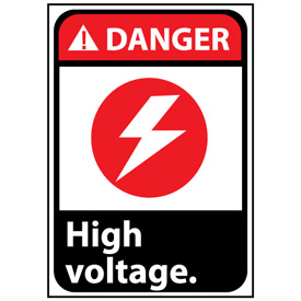 Danger Sign 14x10 Aluminum - High Voltage