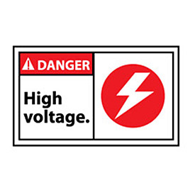 Graphic Machine Labels - Danger High Voltage