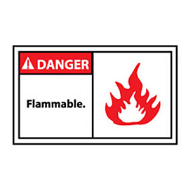 Graphic Machine Labels - Danger Flammable