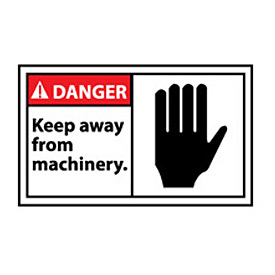 Graphic Machine Labels - Danger Keep Away From Machinery