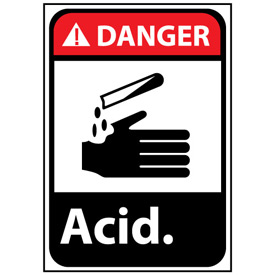 Danger Sign 14x10 Rigid Plastic - Acid