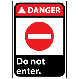 Danger Sign 14x10 Rigid Plastic - Do Not Enter
