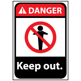 Danger Sign 14x10 Vinyl - Keep Out