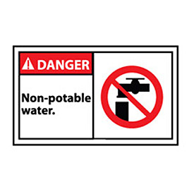 Graphic Machine Labels - Danger Non Potable Water