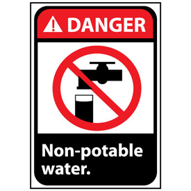Danger Sign 10x7 Rigid Plastic - Non-Potable Water